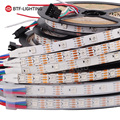 1m/4m/5m WS2813(Dual-signal wires)30/60 pixels/leds/m Smart led pixel strip,WS2812B Updated Black/White PCB,IP30/IP65/IP67 DC5V