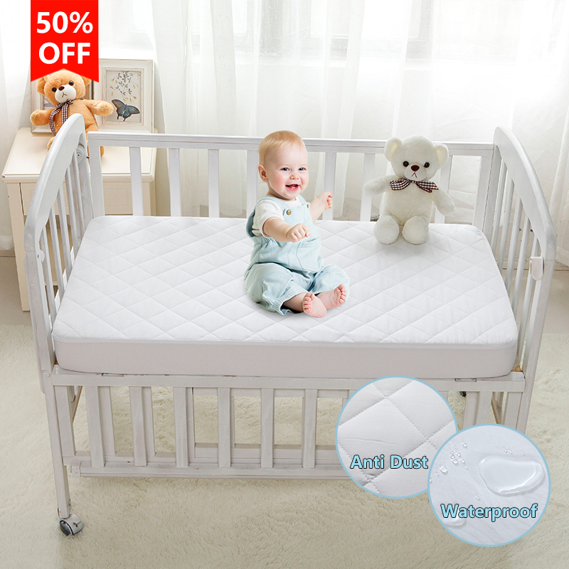 Waterproof Mattress Protector Breathable Mattress Pad Anti Mite Dust Mattress Cover For Baby 28*52*6inch/71*132*15cm