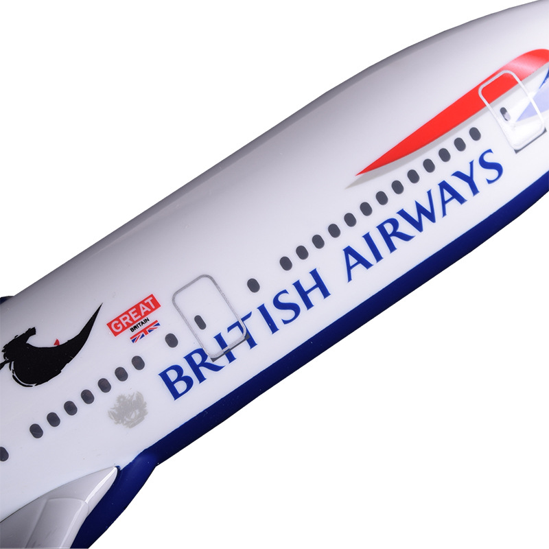 47cm Resin B777 Aircraft Model Great British Airways Boeing 777 England Airplane Model Airbus Model Creative Collection Gift Toy