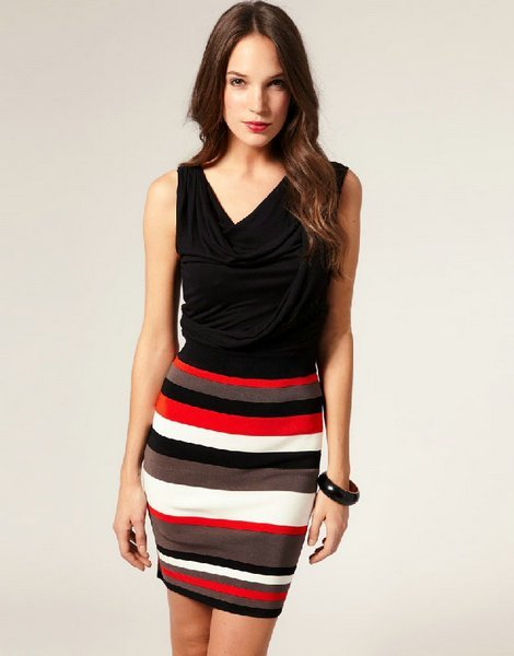 piles collar colorful sround hip slim  name brand women designer knit dress yellow red uk8-16