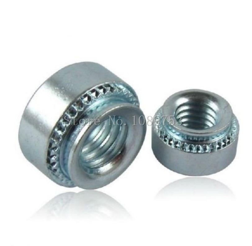 50Pcs M3/M4/M5/M6-1 Slab Thickness 1.4mm Zinc Plated Carbon Steel Rivnut Self-Clinching Inserting Nutsert Press Rivet Nut