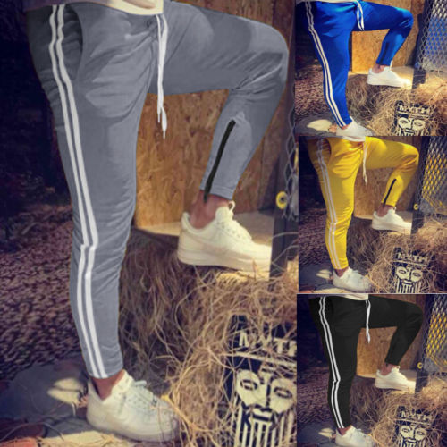 2018 New Fashion Hot Popular Men's Slim Fit Urban Straight Leg Trousers Casual Pencil Jogger Cargo Pants