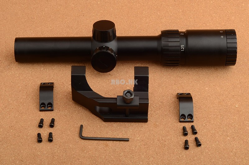 Rbo 1.25-5x26 Rifle Scope 30mm Scope Ring Mount Weaver Mount Rifle Scope Rbo M2048 bsa mil dot 8 32x40 ao rifle scope 25 4mm scope ring mount rbo