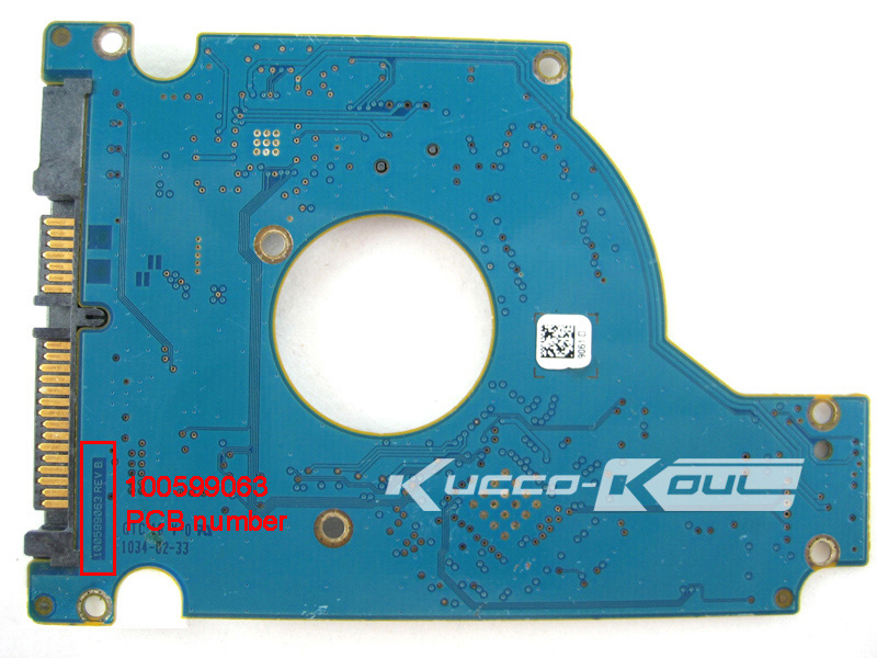hard drive parts PCB logic board printed circuit board 100599063 for Seagate 2.5 SATA hdd data recovery hard drive repair