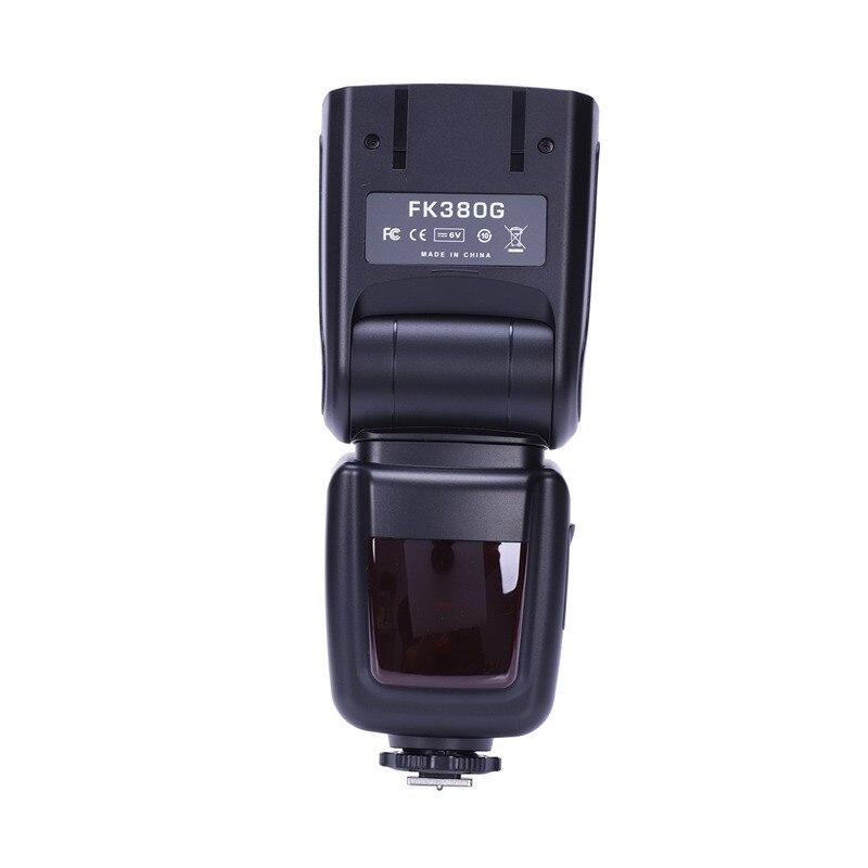 Flash FK380G pour appareil photo numérique Canon EOS, appareil photo avec tablier EOS, appareil photo numérique Nikon avec clignotant sans fil