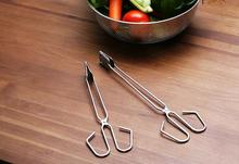 100pcs new BBQ Tools Stainless Steel Scissors Type Grilled Food Clip Barbecue Accessories Portable Tongs Outdoor Gadget