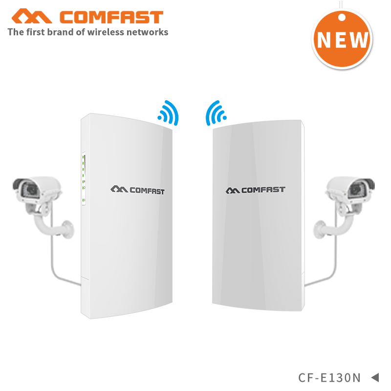 2pcs Point To Point 1KM Long Range Stable Transmission Outdoor CPE 300Mbps Wireless Bridge AP Wifi Repeater Antenna Nanostation