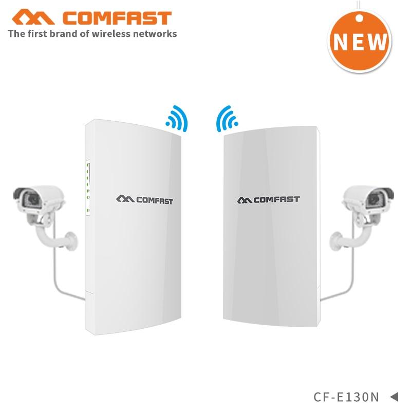 2pcs 1KM Ponto a ponto de transmissão estável de longo alcance ao ar livre CPE 300Mbps wireless bridge AP repetidor wi-fi antena Nanostation