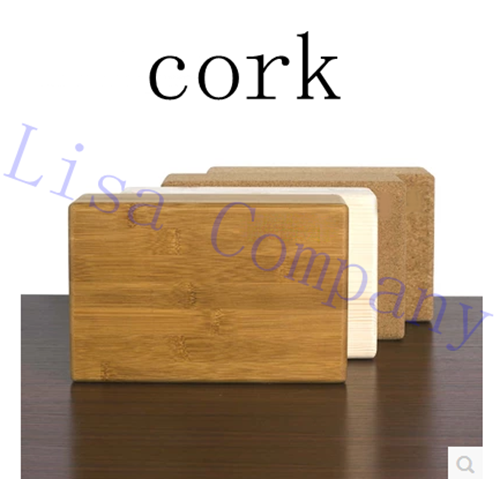 Yoga Brick Pilates Cork Yoga Block Environmental Protection Tasteless Yoga Accessories F ...