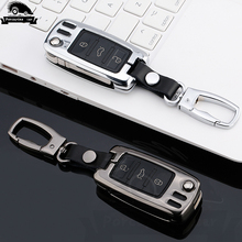 цена на Zinc alloy Car Styling Auto Key Shell Case For Volkswagen Polo Tiguan VW Passat For Skoda Cover Car-Styling Accessories