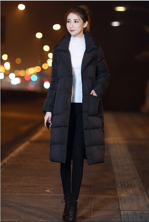 Canard Vers Duvet Veste De Blanc Manteaux Col Épaississement Manteau blanc Casual Survêtement Genou rouge Bas 2018 Femelle Costume Le Mode Femmes Noir Sur FqO66I
