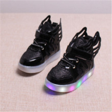 jm02 2017 new children's girls shoes LED lights children's shoes girls boymagic with luminescent shoes baby non-slip flash shoes