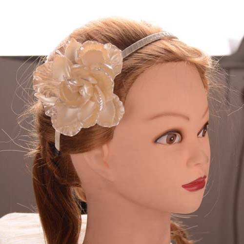 Fashion alice shell big flower wedding headband bridal white flower fashion alice shell big flower wedding headband bridal white flower hair band romantic hair accessories in hair jewelry from jewelry accessories on mightylinksfo