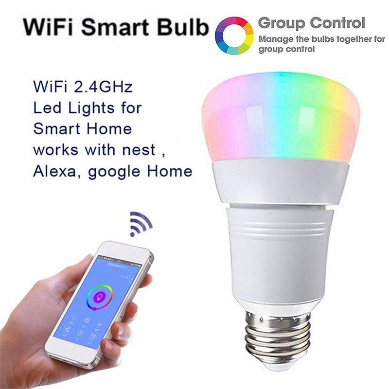 Smart Light Ampoules APP Télécommande 11 w LED Smart WIFI Ampoule LED Couleur Lumière Changeante Ampoule Pour Amazon/ alexa/Google Maison E27 B22