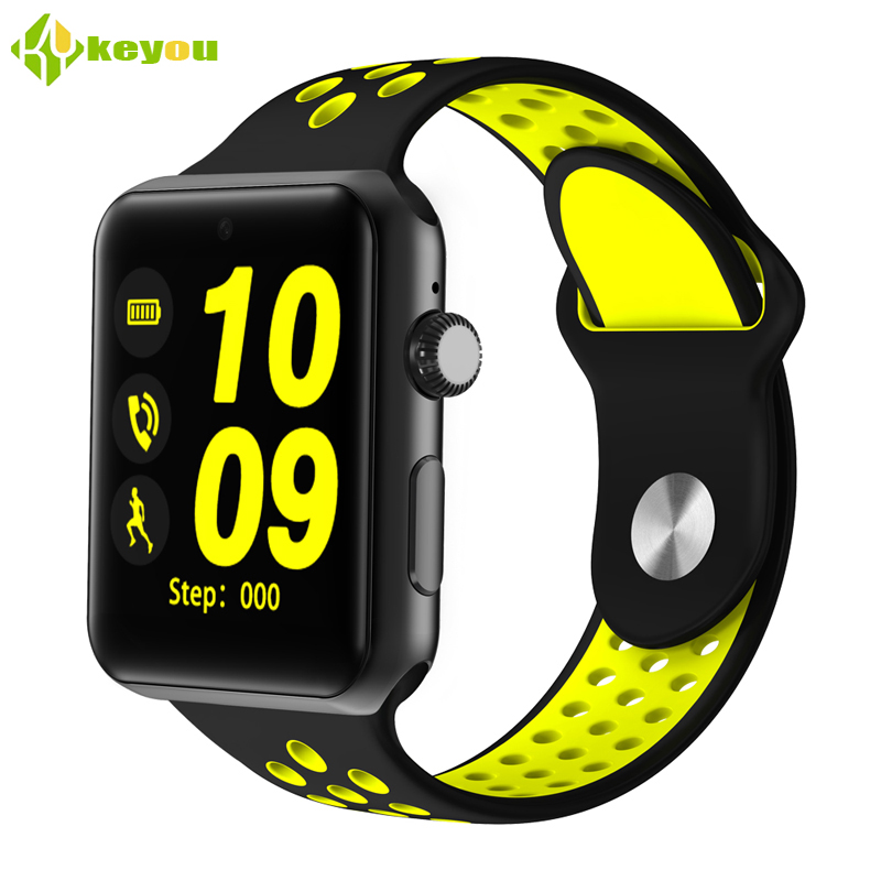 Keyou DM09 smart watches sim card android clock bluetooth watch phone Square Passometer camera change english languag smartwatch mymei android smart watch gt08 clock with sim card slot push message bluetooth connectivity phone better than dz09 smartwatch