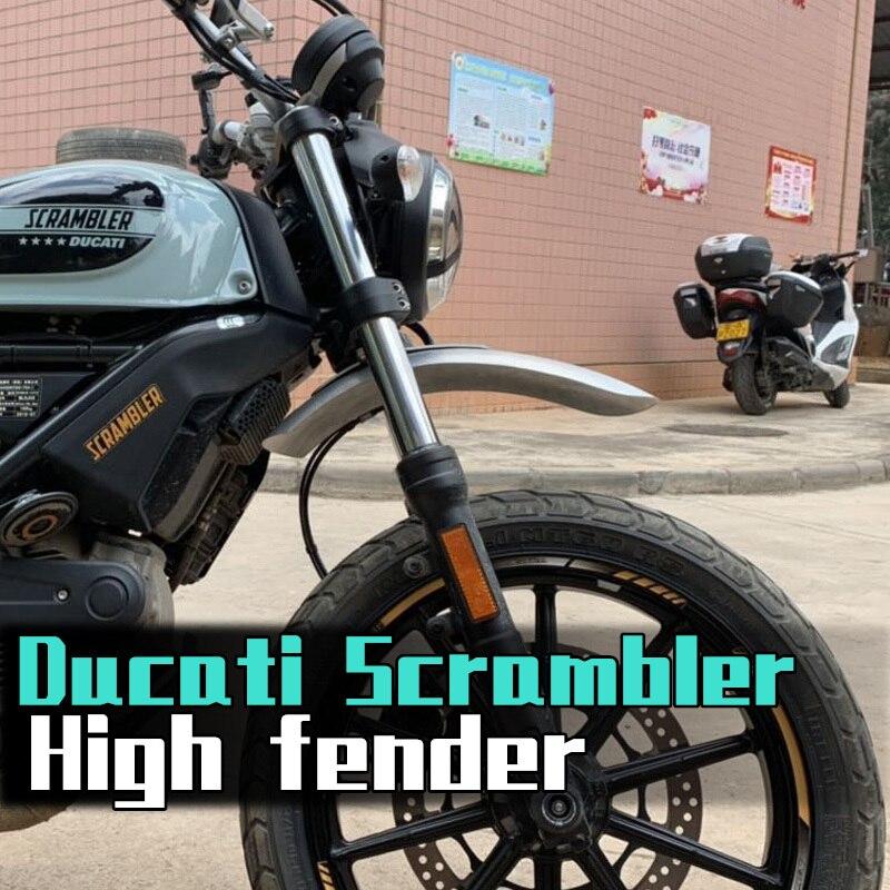 Motorcycle Mudguards Handmadc Aluminium alloy Front Fcndcr Whccl Extcnsion Mudguard For Ducati Scrambler