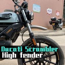 Xe máy Mudguards Handmadc Nhôm hợp kim Phía Trước Fcndcr Whccl Extcnsion Chắn Bùn Đối Với Ducati Scrambler