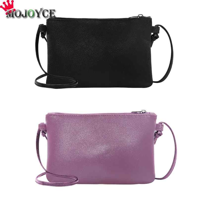Mulheres Embreagem de Couro Macio Sólidos Mini Messenger Bag Crossbody Ombro Sacos Bolsos Mujer Bolsa Feminina