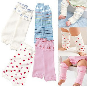 Lovely bowknot loving heart falbala toddler kids candy knee pad socks children baby girls Leg Warmers 12pair/lot Free Shipping