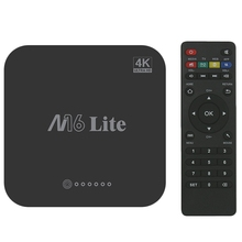 M16 Lite Android Smart Tv Box Ddr3 Emmc Rom Set Top 4K 3D H.265 Wifi Media Player Receiver Eu Plug