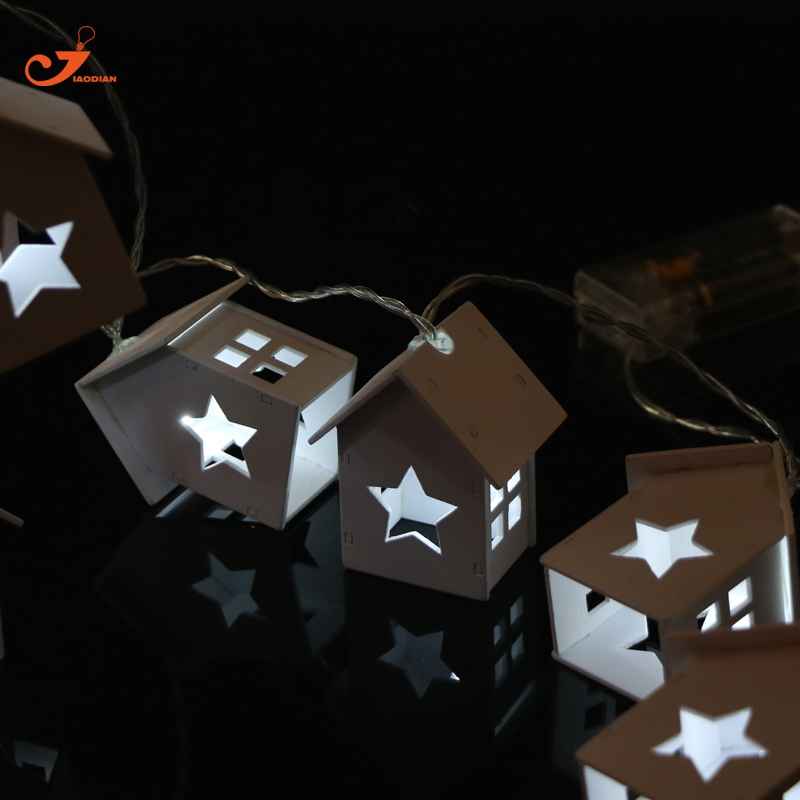 White Wooden Star Lights 10LED Wood House Holiday Christmas Light for home Battery Garland Fairy lights snowman decor 4pcs/lot 2 suction modes usb vacuum cleaner wireless handheld vacuum cleaner mini portable keyboard desktop cleaner for home office