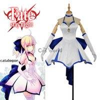 Fate ZERO Grand Order Nero Saber Tee Dress Slip Dress Full Dress Uniform Outfit Cosplay Costumes