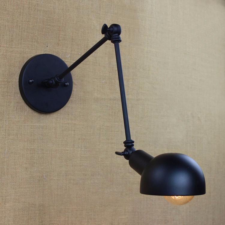 E27 Base Retro Loft Industrial LED Vintage Wall Lamp light Wall Sconce Adjustable Handle Metal Rustic Loft Light Sconce Fixtures (7)