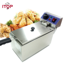 ITOP 6L electric small home household healthy fish chicken potato french fries deep oil fat fryer machine 220V стоимость