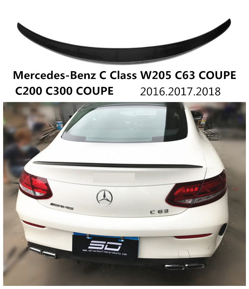 Car carbon fiber spoiler for mercedes benz c class w205 for Mercedes benz c300 accessories