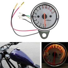 Universal 13000RPM 12V Scooter Motorcycle Analog Tachometer Gauge Motorcycle Instruments Scooter Speed Indicator Drop Shipping