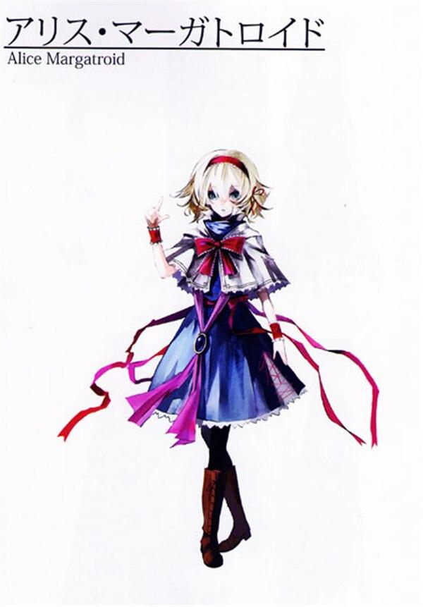Costume de Cosplay sur mesure TouHou Project robe Alice bleue + châle + écharpe