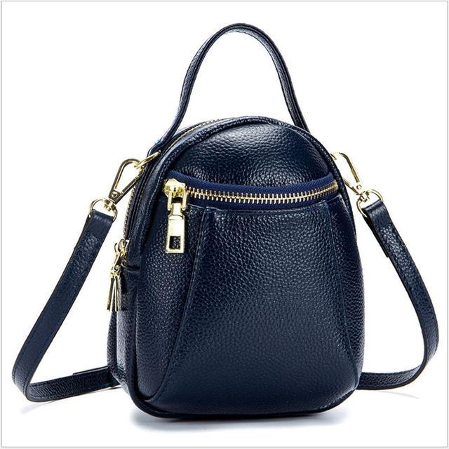 Genuíno Couro Mini saco de Ombro para a Mulher bolsa Da Senhora bolsa de couro Real Preto Vermelho azul Luz Verde