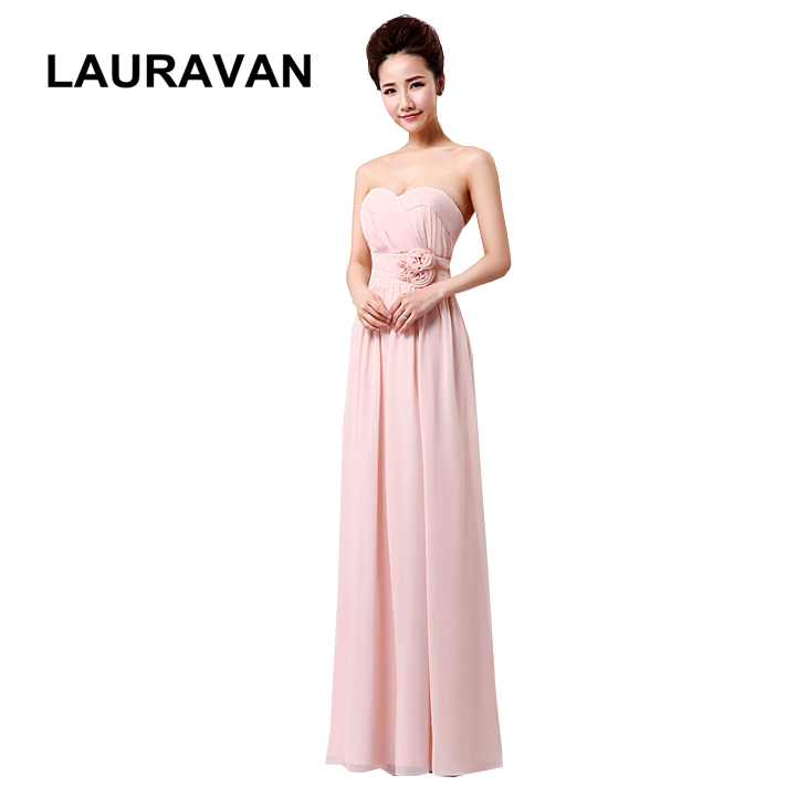 sweetheart girl lace up back formal light pink gown cheap chiffon bridesmaid dresses a line dress under 100 free shipping