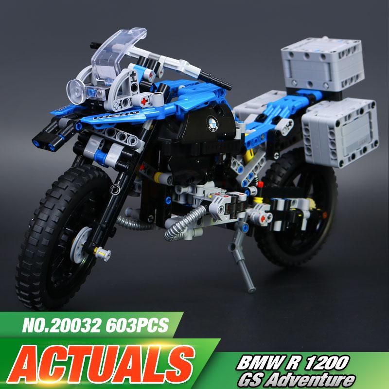ФОТО New 2017 Lepin 20032 Technic Series The BAMW Off-road Motorcycles R1200 GS Building Blocks Bricks Educational Toys  42063