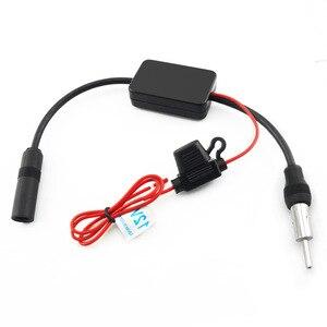 Image 3 - Amplificador de sinal de rádio do automóvel do carro da antena 12 v antena aérea do carro da antena de fm/am