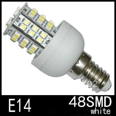 Wholesale 40pcs/lot Brand E14 48 SMD 210LM LED Cool White/Warm White Spotlight Light Bulbs 220V