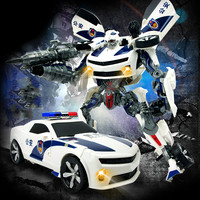 Diecast Car Model Children's Puzzle For Optimus Wasp Deformation Warlord King Kong Robot Model Hot Sale Gift Car Toys for Boys