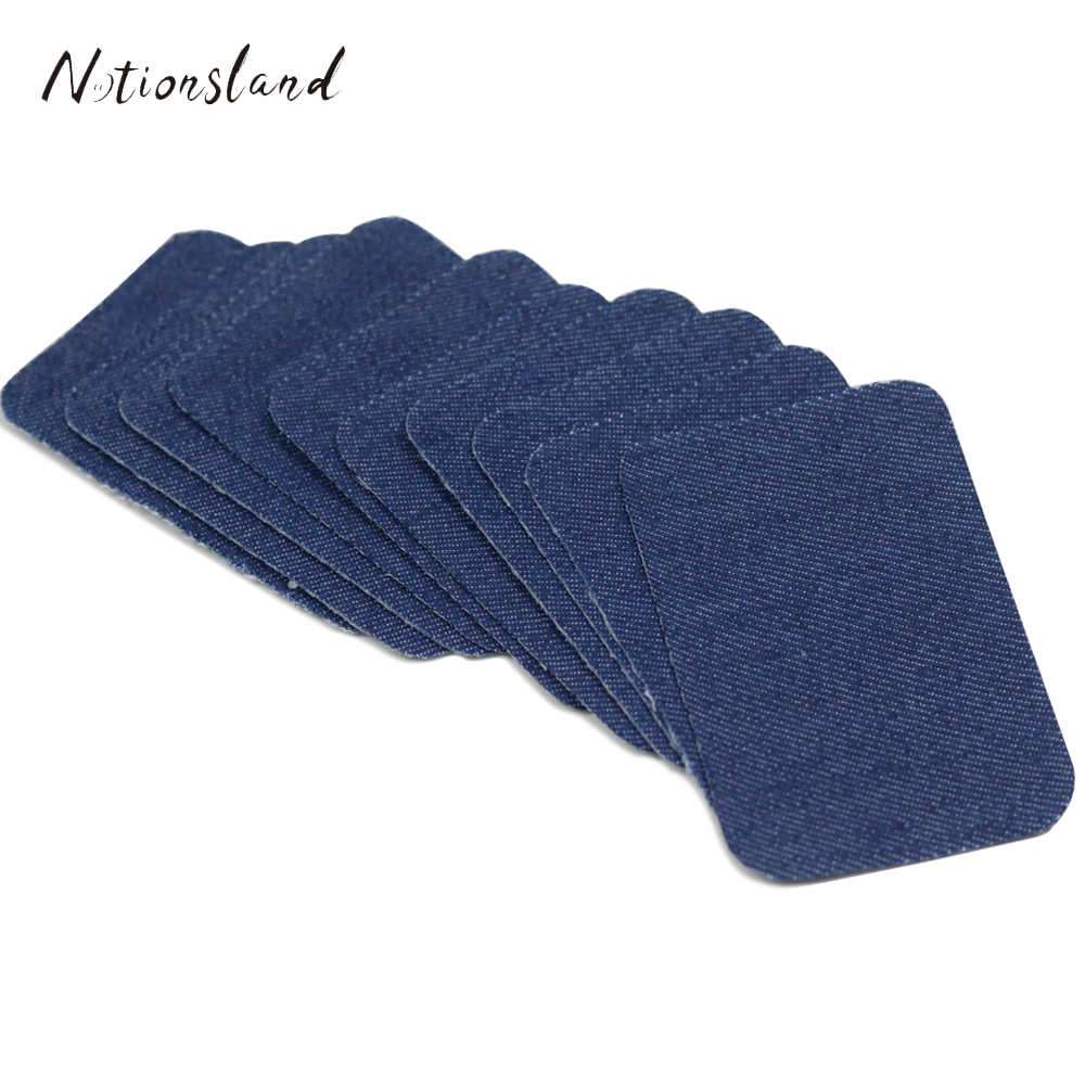 10pcs/Pack Assorted Iron on Jeans Patches Repairs for Clothes Stickers Sewing Accessories 2 Sizes