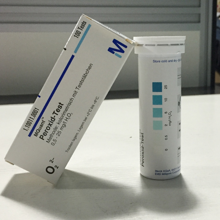Test paper 1 10011 0001 for rapid detection of hydrogen peroxide in Merck MERCK hydrogen peroxide