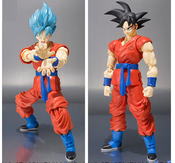2 Types Dragon Ball Z Super Saiyan God Goku Joint Movable Doll PVC Figure Figurine Resin Collection Model Toy Gifts Cosplay 240 free shipping super big size 12 super mario with star action figure display collection model toy