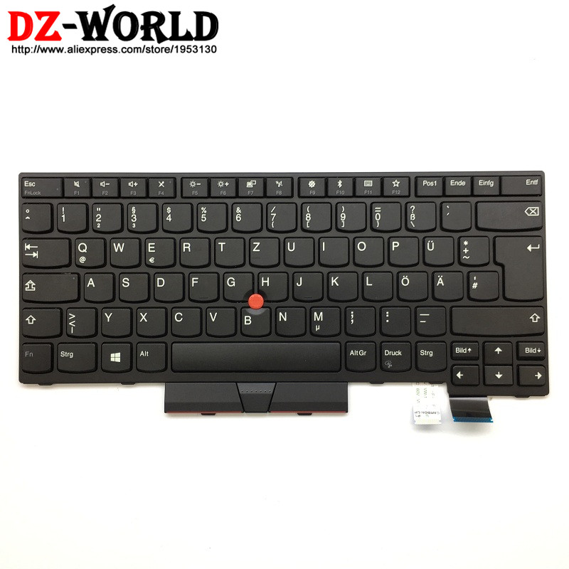 New Original for Lenovo Thinkpad T470 Keyboard GR German Teclado 01AX458 01AX376 01AX417 SN20L72779 neworig keyboard bezel palmrest cover lenovo thinkpad t540p w54 touchpad without fingerprint 04x5544