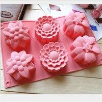 クリエイティブdiy金型手作り石鹸金型花シリコーンケーキ型