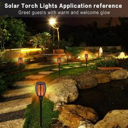 96 LED Solare Lampada Fiamma Tremolante IP65 Impermeabile Landscape Garden Path Parete Della Decorazione Della Luce Della Luce Della Torcia per Esterno