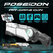 AR Gun Pneumatisk Gun Kids Legetøj Gun Airsoft Våben Bluetooth Mobiltelefon Stand Holder Multiplayer Battle Remote Sensing Game