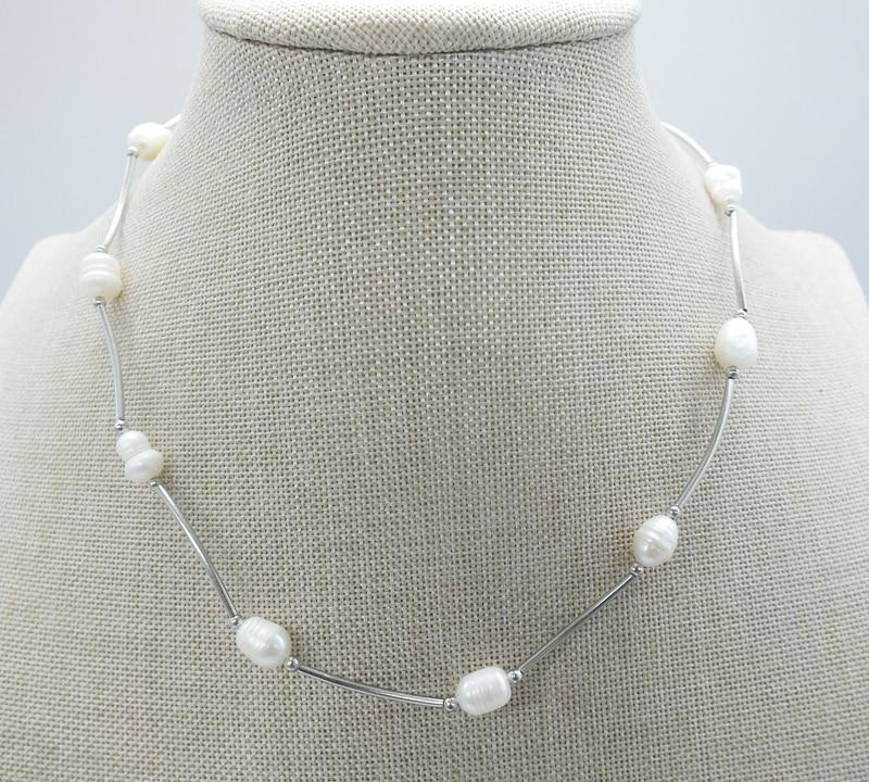 Промо-акция! Ожерелье из натурального пресноводного жемчуга, очень красивое. Лучший подарок для женщин 40 см