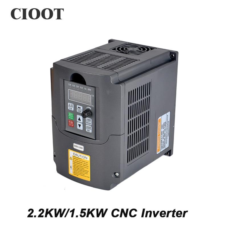 2.2KW/1.5KW CNC Inverter Variable Frequency Drive VFD Inverter AC 110V 220V Spindle Inverter Tools gametrix kw 901