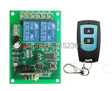 DC 12V 2CH 10A RF Wireless Remote Control Switch System teleswitch transmitter &  receiver relay Receiver Smart Home Switch