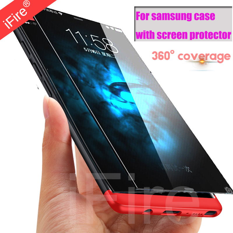 360 Degree Cases for Samsung S7 Edge case matte PC Protection full cover For Samsung galaxy note8 s8 Plus whith Screen Protector