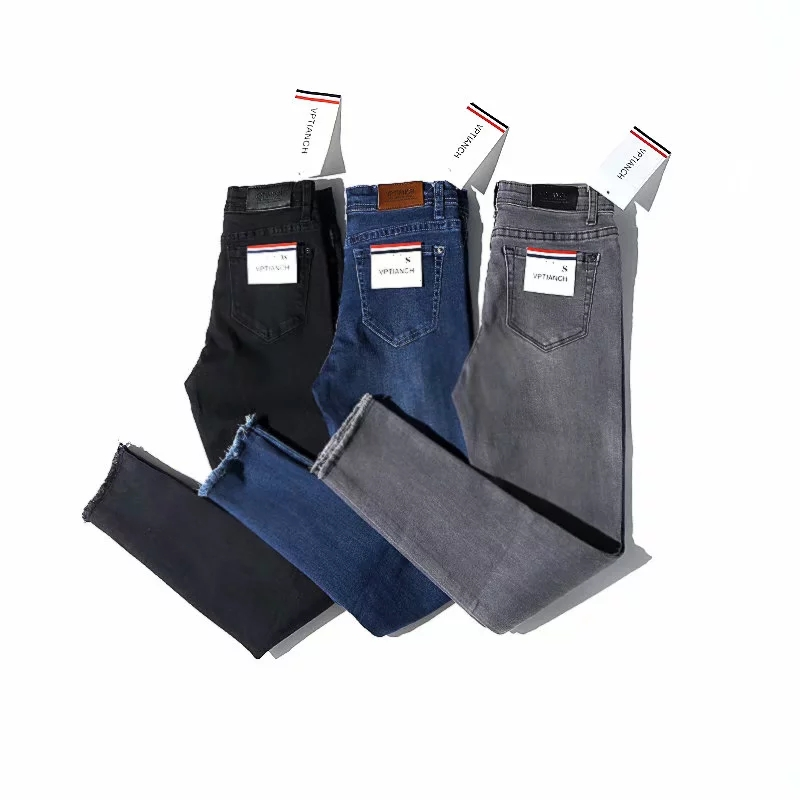 Women   Jeans   Ankle-Length High Waist Elastic Skinny Pencil Pants Denim Trousers Fit spring Lady Slim   Jeans   Black grey