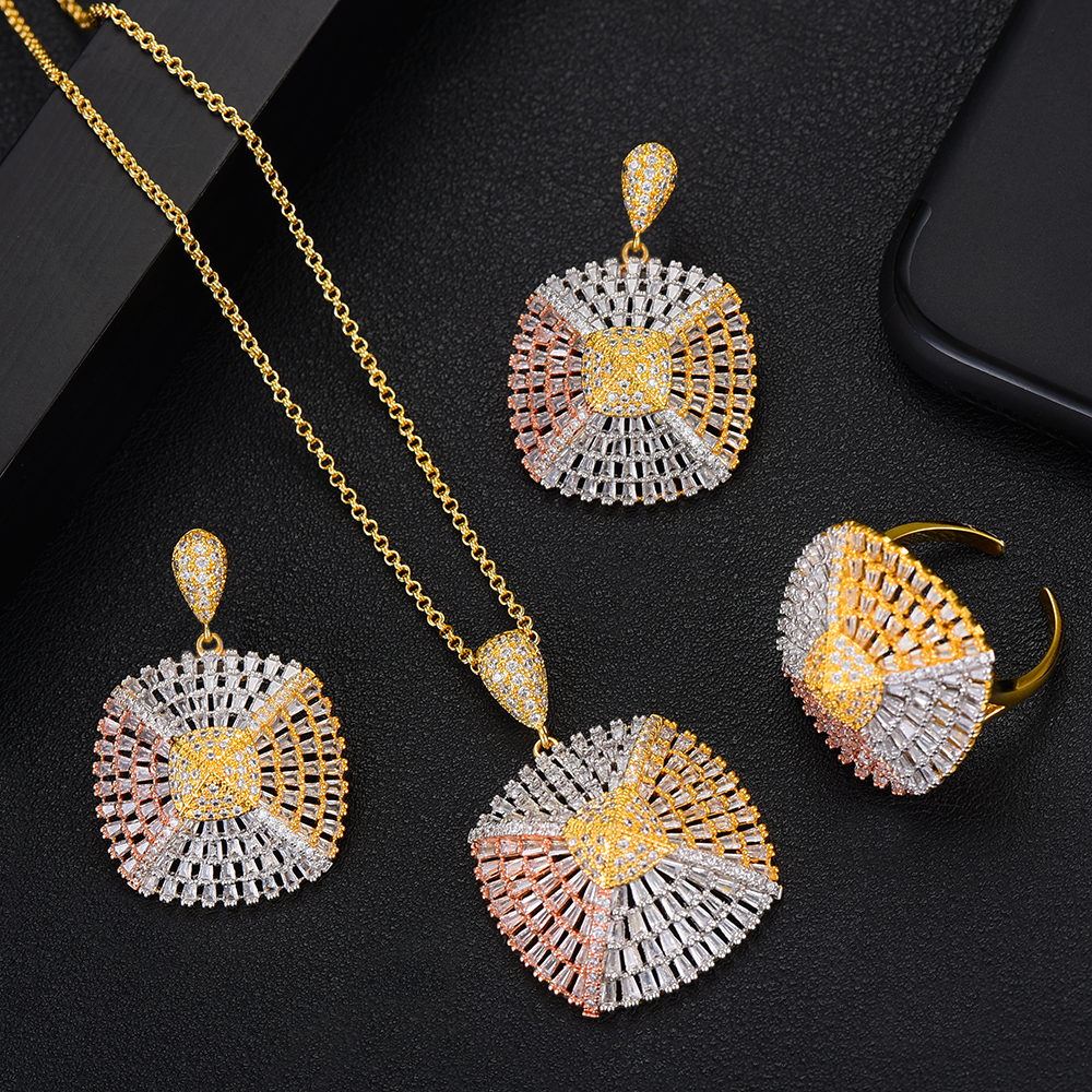 GODKI Luxury Exclusive Square 3PCS Necklace Earring Ring Set For Women Wedding Bridal Cubic Zircon Dubai High Jewelry Sets 2019GODKI Luxury Exclusive Square 3PCS Necklace Earring Ring Set For Women Wedding Bridal Cubic Zircon Dubai High Jewelry Sets 2019